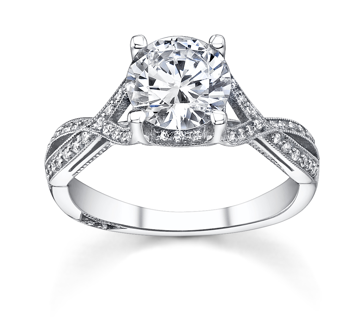 platinum engagement ring of the day tacori fully