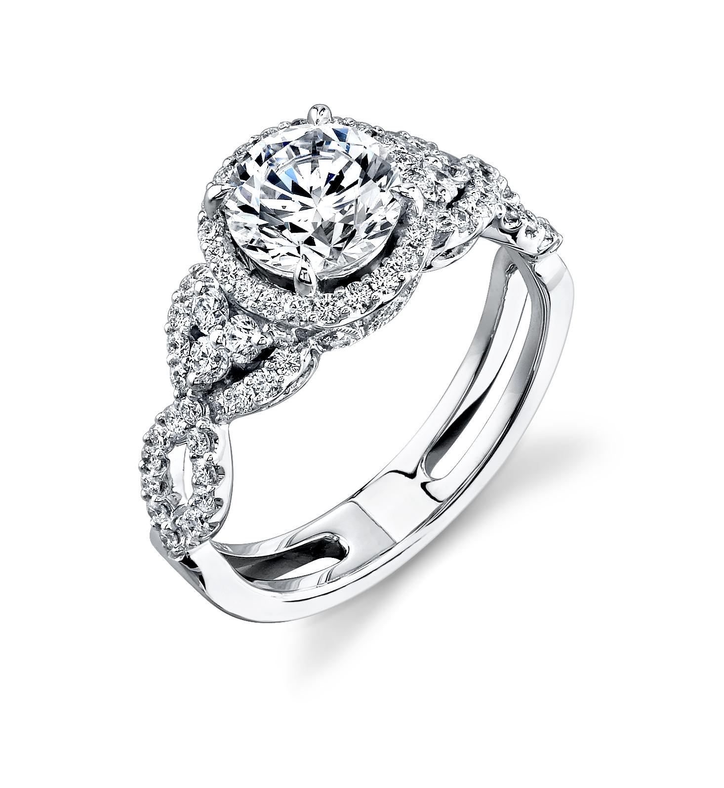 halo style wedding rings vintage wedding ring sets Vintage Style Simon G Halo Engagement Ring with Micro Pave