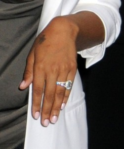 Lala vazquez diamond encrusted engagement ring