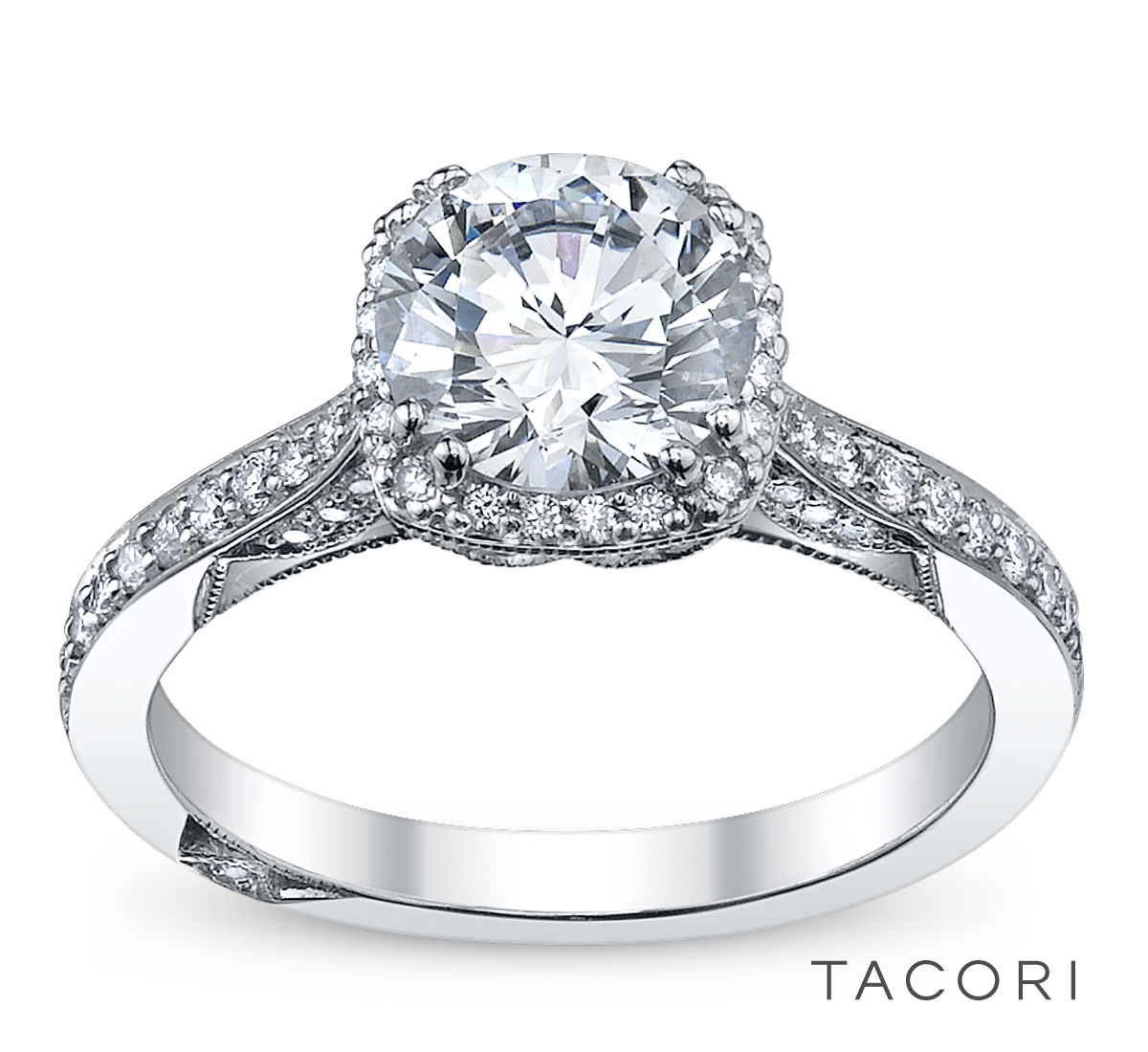 Diamond Tacori Bands: Robbins Brothers Engagement Ring Of The Day-Tacori