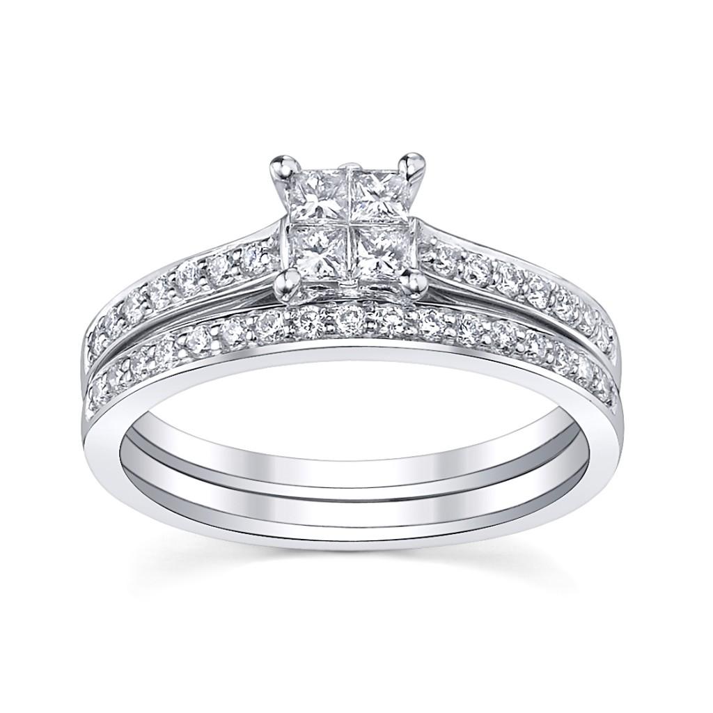 bridal sets princess cut diamond bridal sets