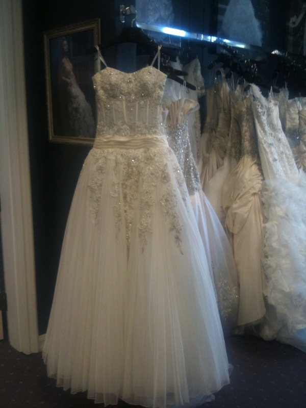 Marry me in mon amie robbins brothers be fully engaged for Mon amie wedding dresses