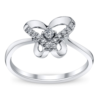 engagement ring and wedding dress styles for spring - Butterfly Wedding Rings