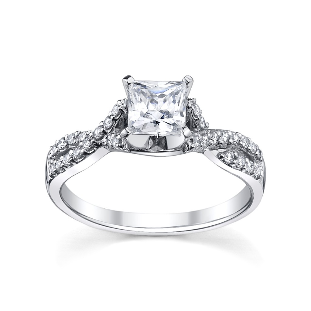 Platinum Princess Cut Engagement Ring from Robbins Brothers (sku ...