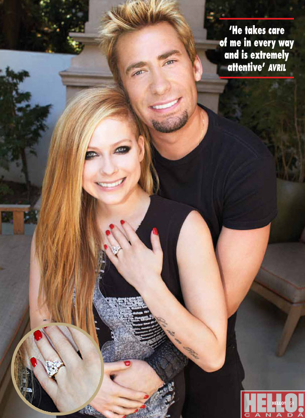 newly engaged avril lavigne and chad kroeger show off 14