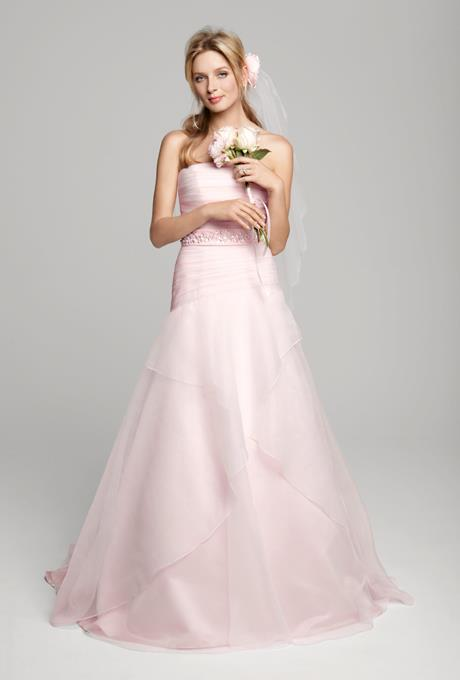 pink wedding dress davids