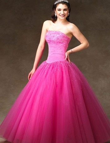Brides who are pretty in pink robbins brothers fully for Fuschia pink dress for wedding
