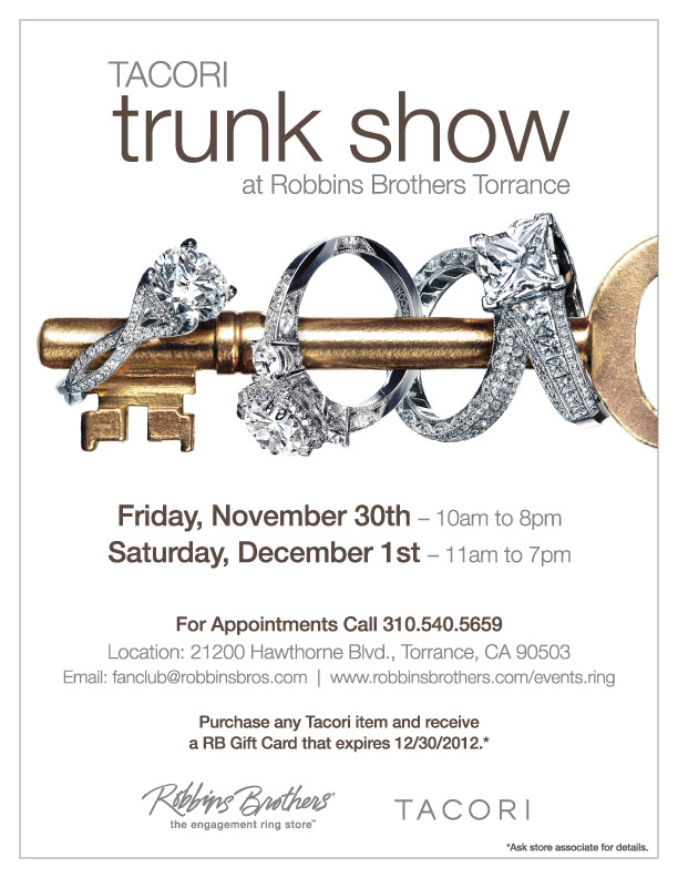 Blingin Bridal And Fashion Jewelry At Tacori Trunk Show In Torrance