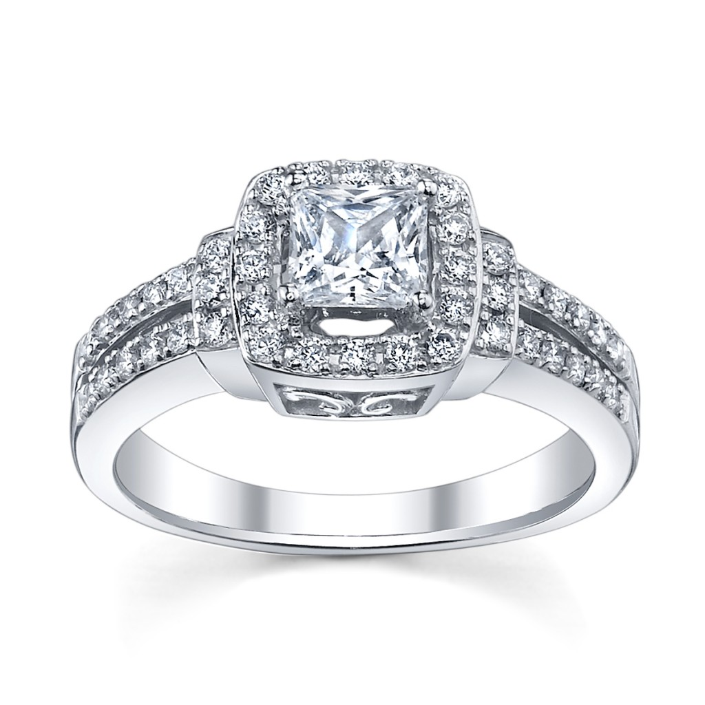 Cupid s Engagement Ring Pick for Valentine s Vintage Halo Diamond Ring