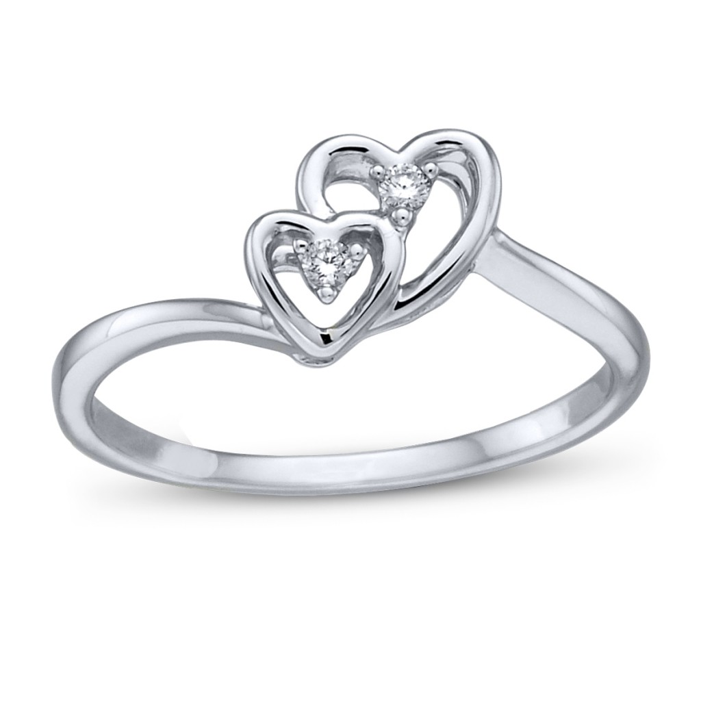 cupids engagement ring picture for valentines day two hearts ring