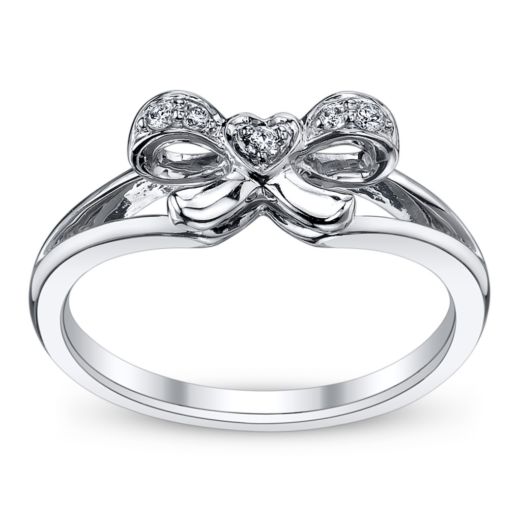 Cupidu0027s Engagement Ring Pick For Valentineu0027s #14: Diamond Bow Ring    Robbins Brothers Blog