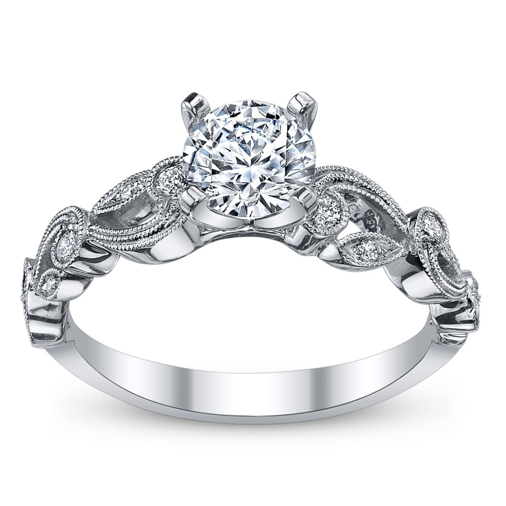 cupid's engagement ring pick for valentine's #12: simon g. 18k