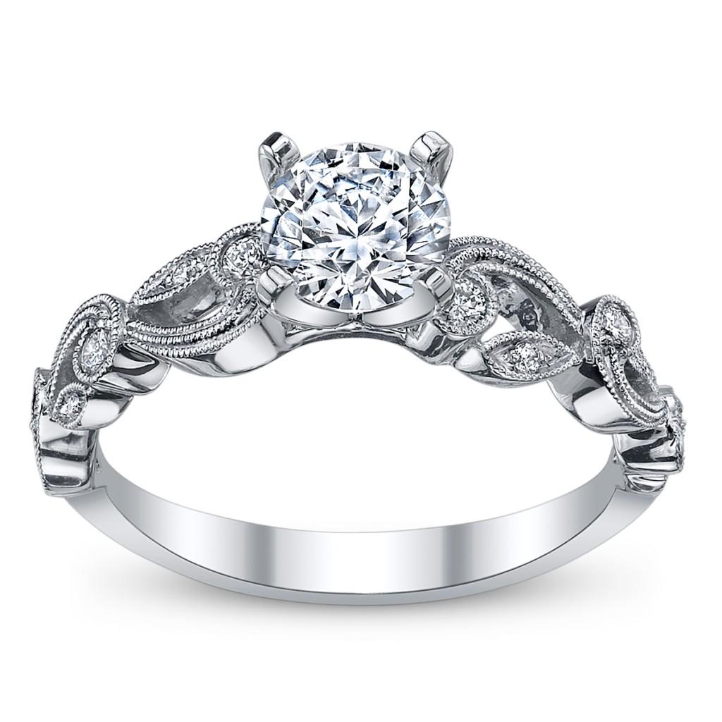 cupid's engagement ring pick for valentine's #12: simon g. 18k white