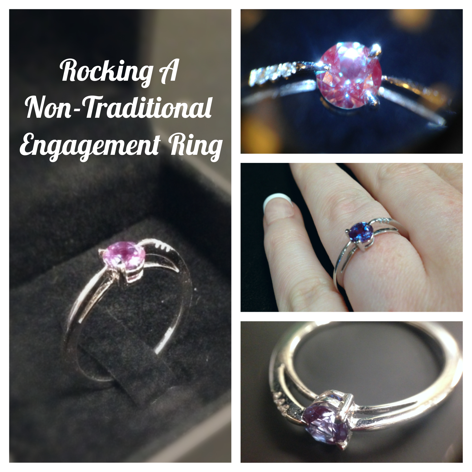 non traditional engagement ring this modern setting features an alexandrite gemstone - Non Traditional Wedding Rings