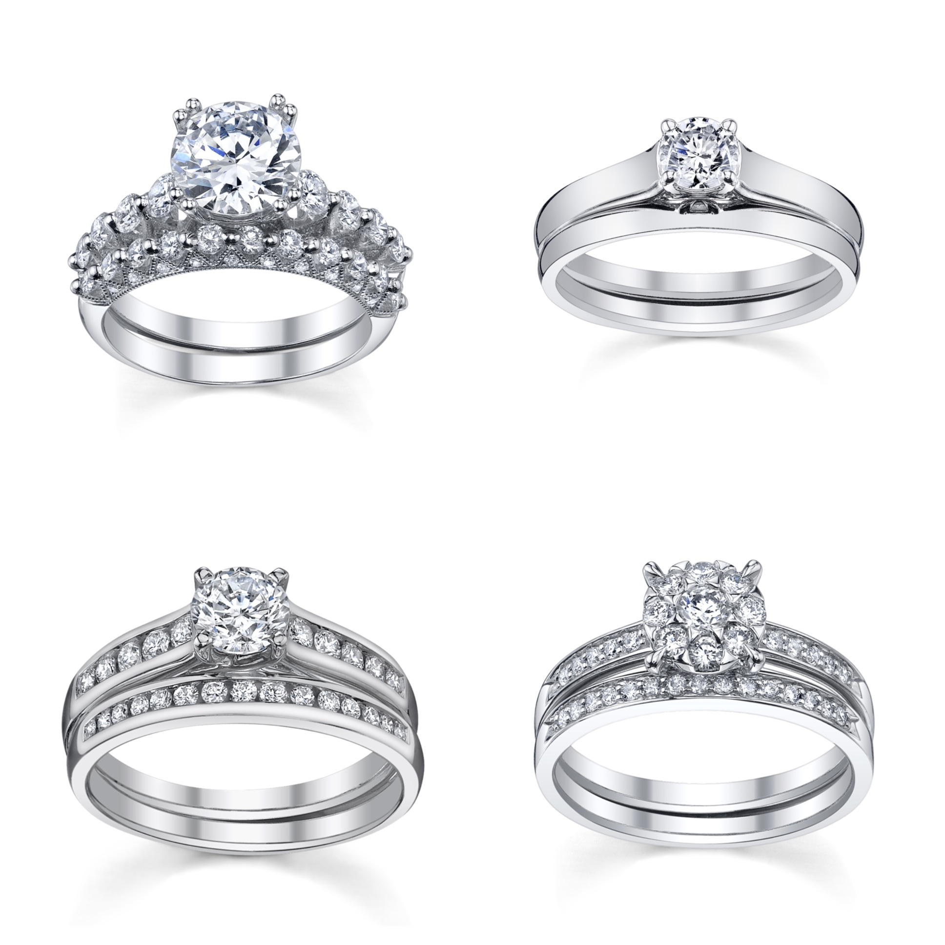 wedding rings of collection band halo inspired view within set engagement ctw bridal best vintage