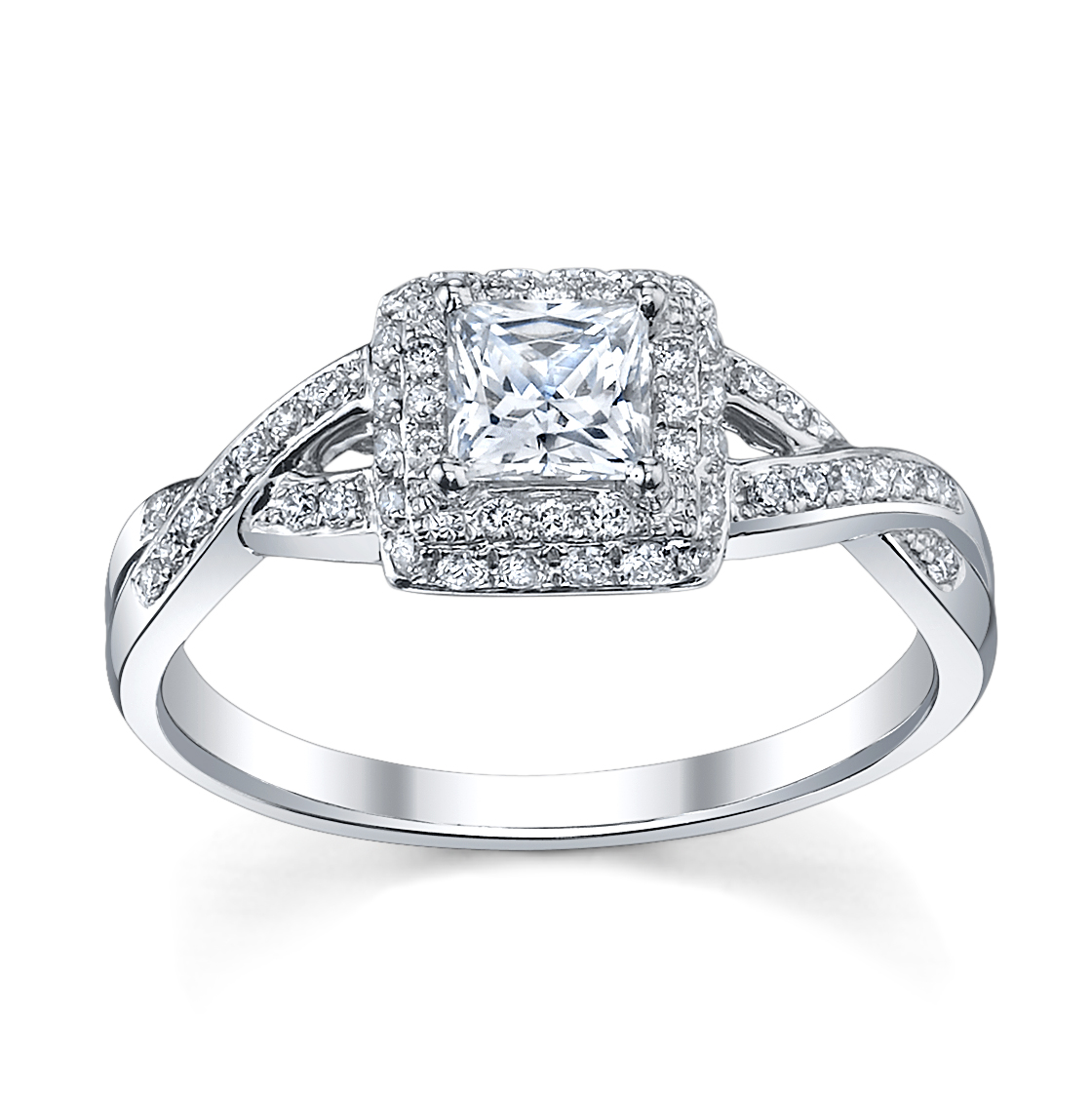 princess cut diamond wedding rings 6 princess cut engagement rings she ll robbins 6802