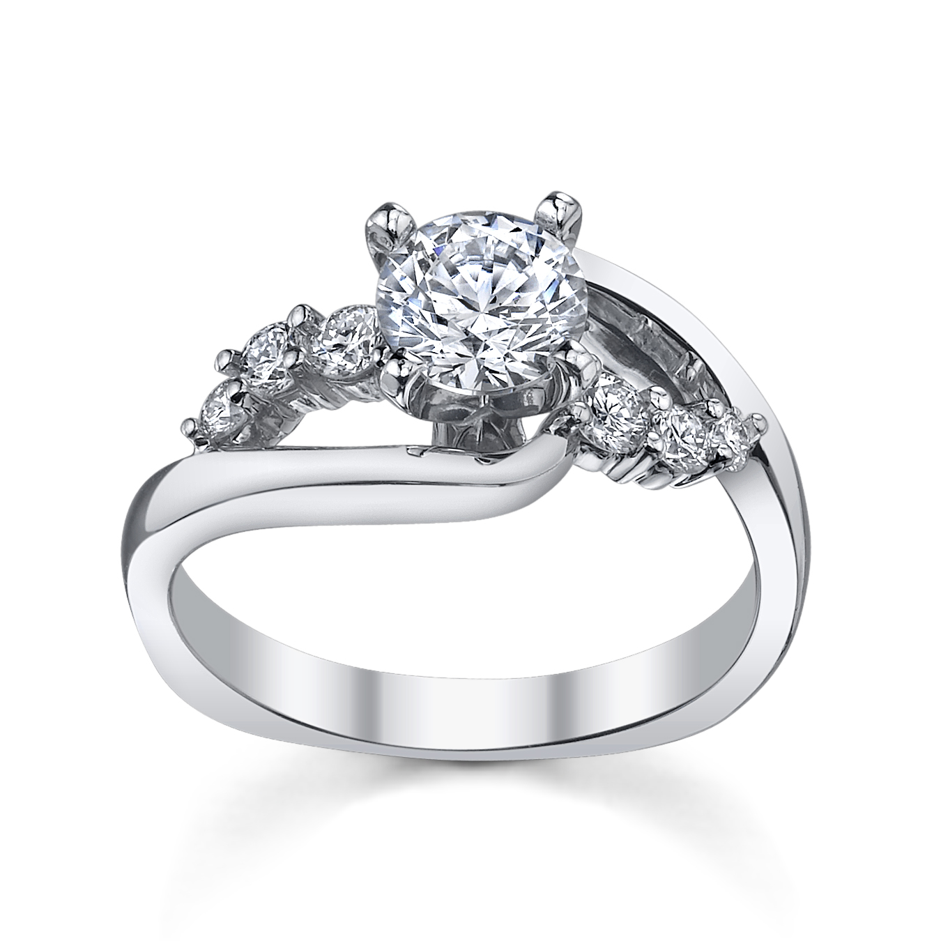 Modern Engagement Ring From Robbins Brothers (sku0382364)