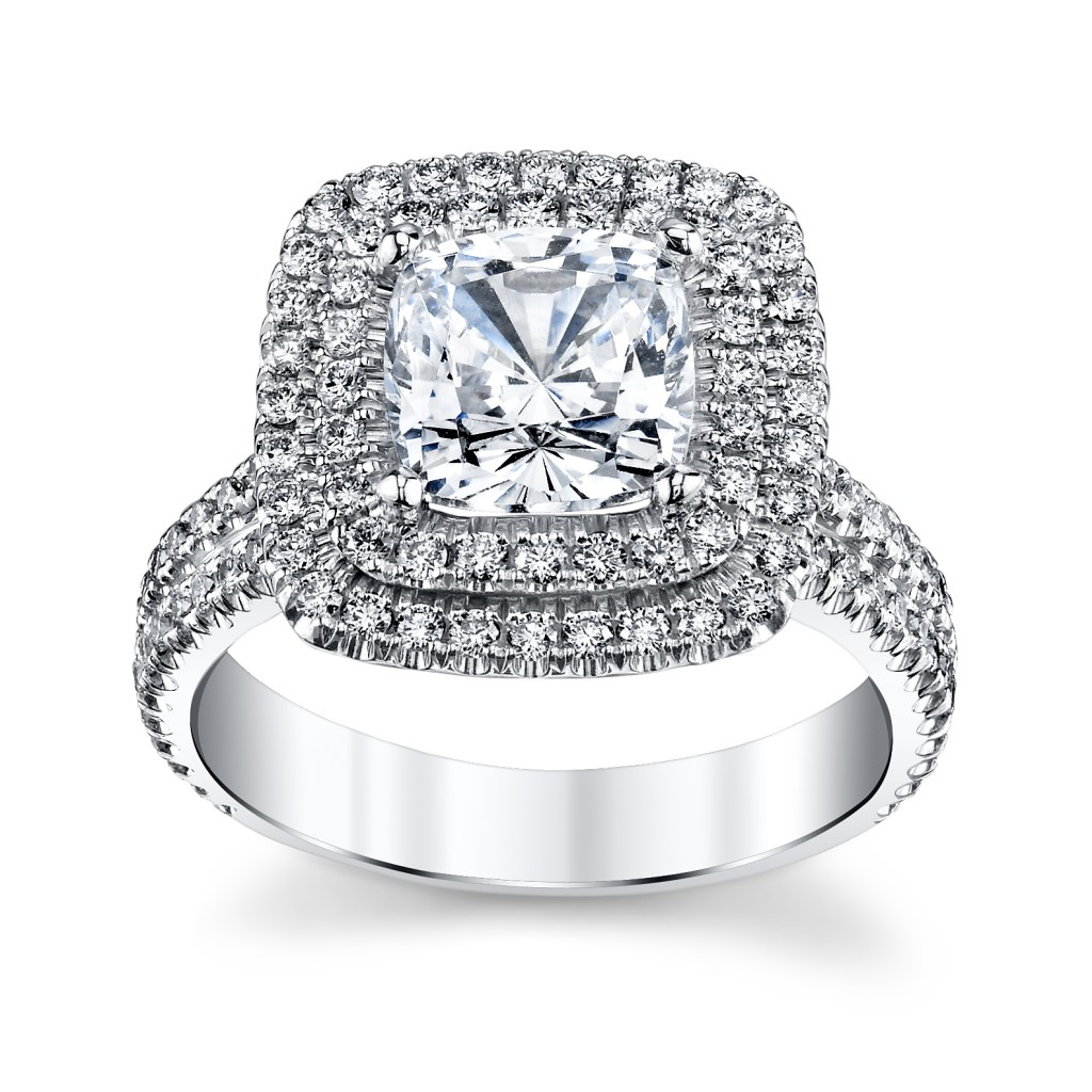 18K White Gold Diamond Engagement Ring Setting by Michael M. (sku 0393129 at www.RobbinsBrothers.com)