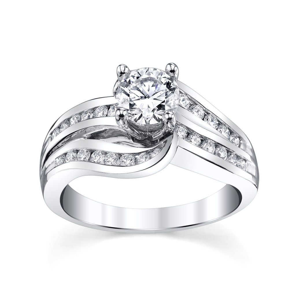 White Gold Diamond Engagement Ring by Robbins Brothers (sku 0388519)