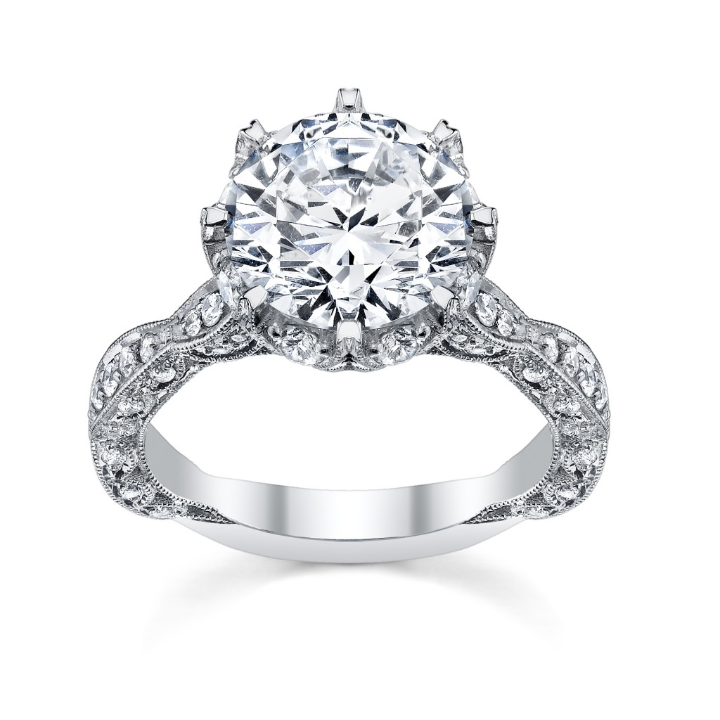 Tacori Platinum Diamond Engagement Ring (sku 0390279 from www.RobbinsBrothers.com)