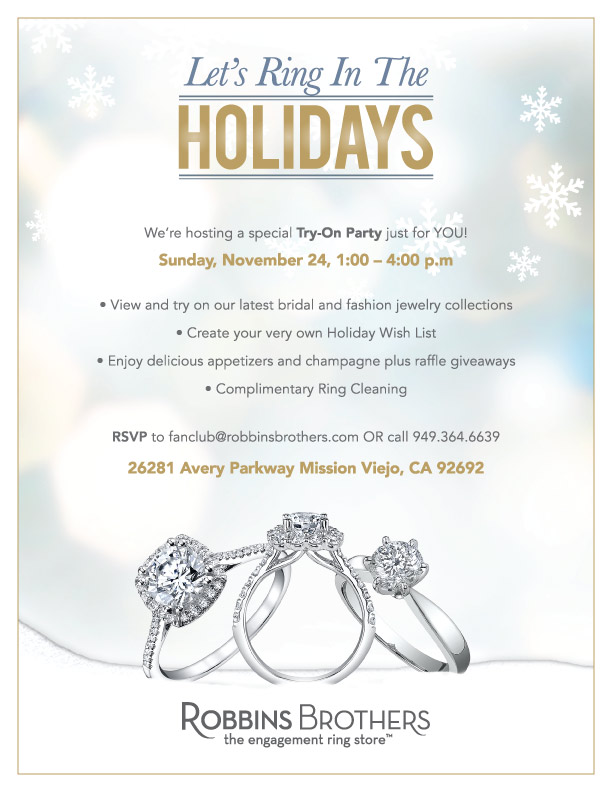 Party in orange county help us ring in the holidays for Jewelry store mission viejo