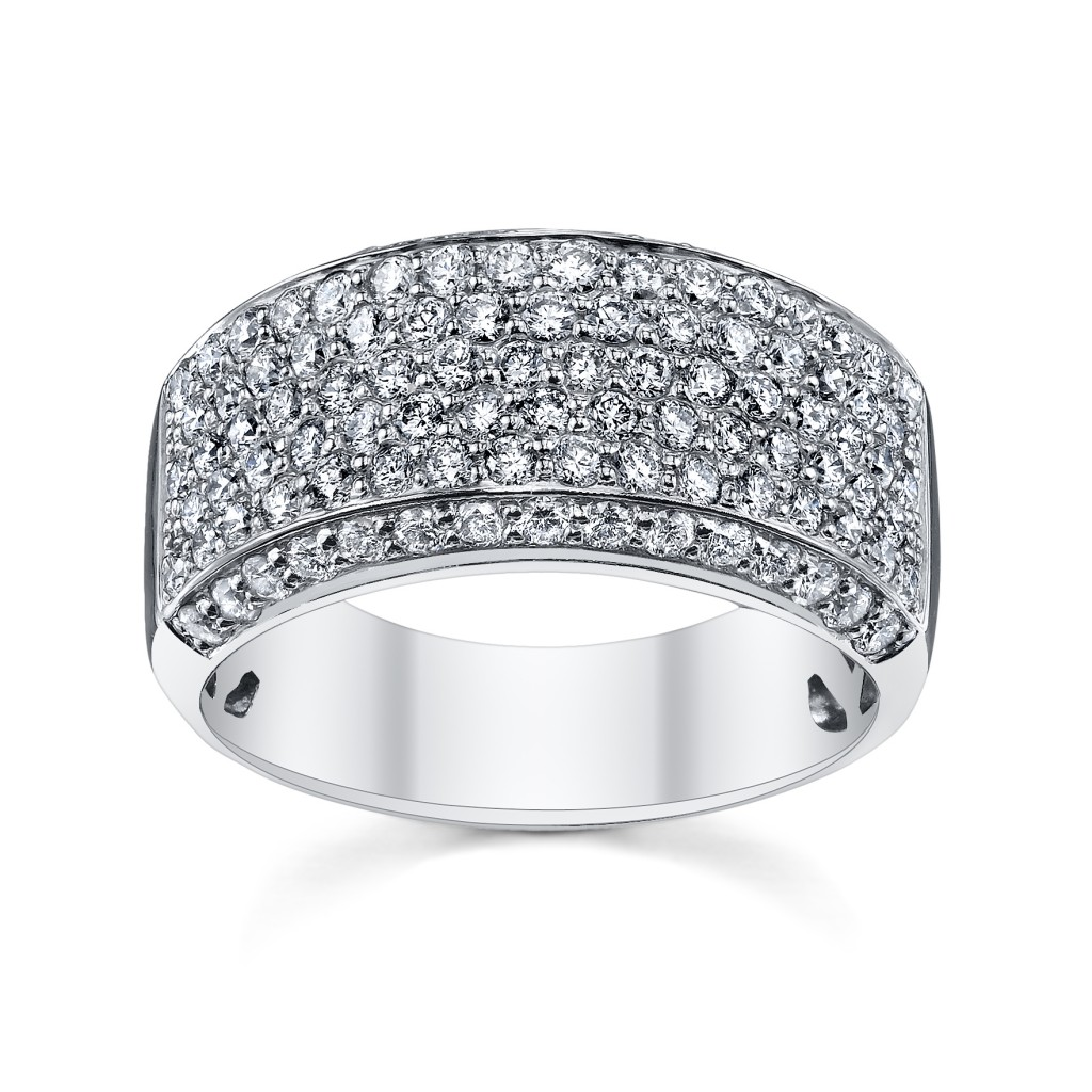 Micro pave Diamond Anniversary Ring (sku 0388638)