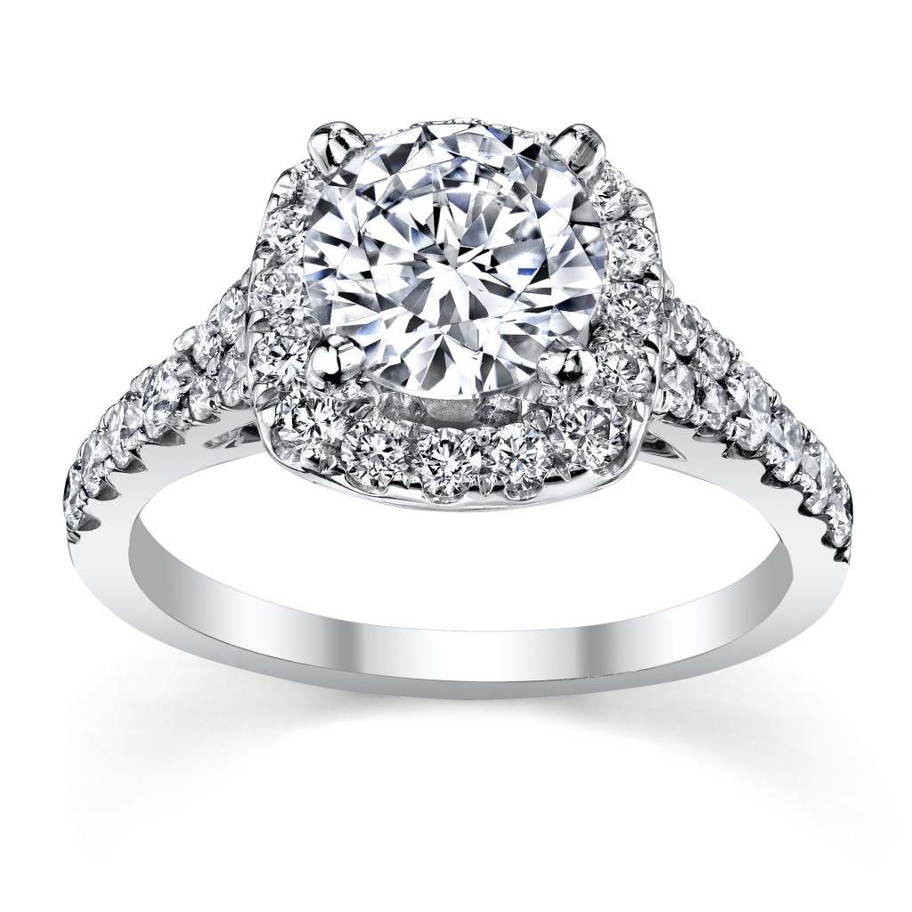 Scott Kay Round Brilliant Halo Diamond Engagement Ring Setting (sku 0382035 at www.RobbinsBrothers.com)