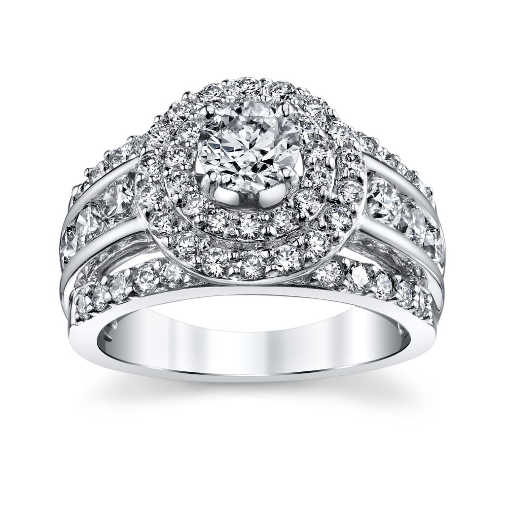 Utwo Double Halo White Gold Engagement Ring (sku 0393922 at www.RobbinsBrothers.com)