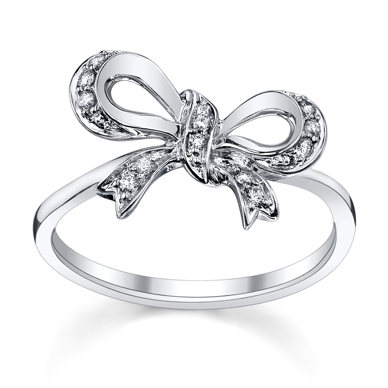 4 perfect heart bow diamond engagement rings for the. Black Bedroom Furniture Sets. Home Design Ideas