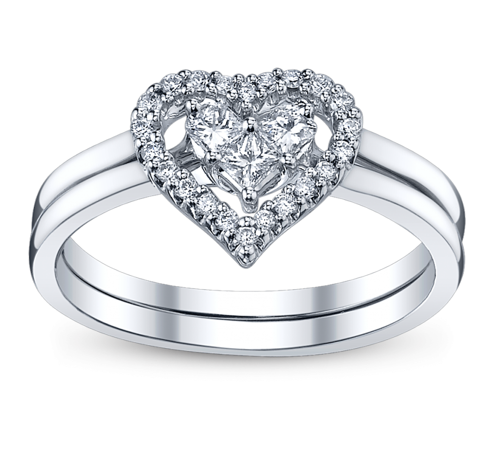 4 perfect heart bow diamond engagement rings for the for Diamond wedding ring images