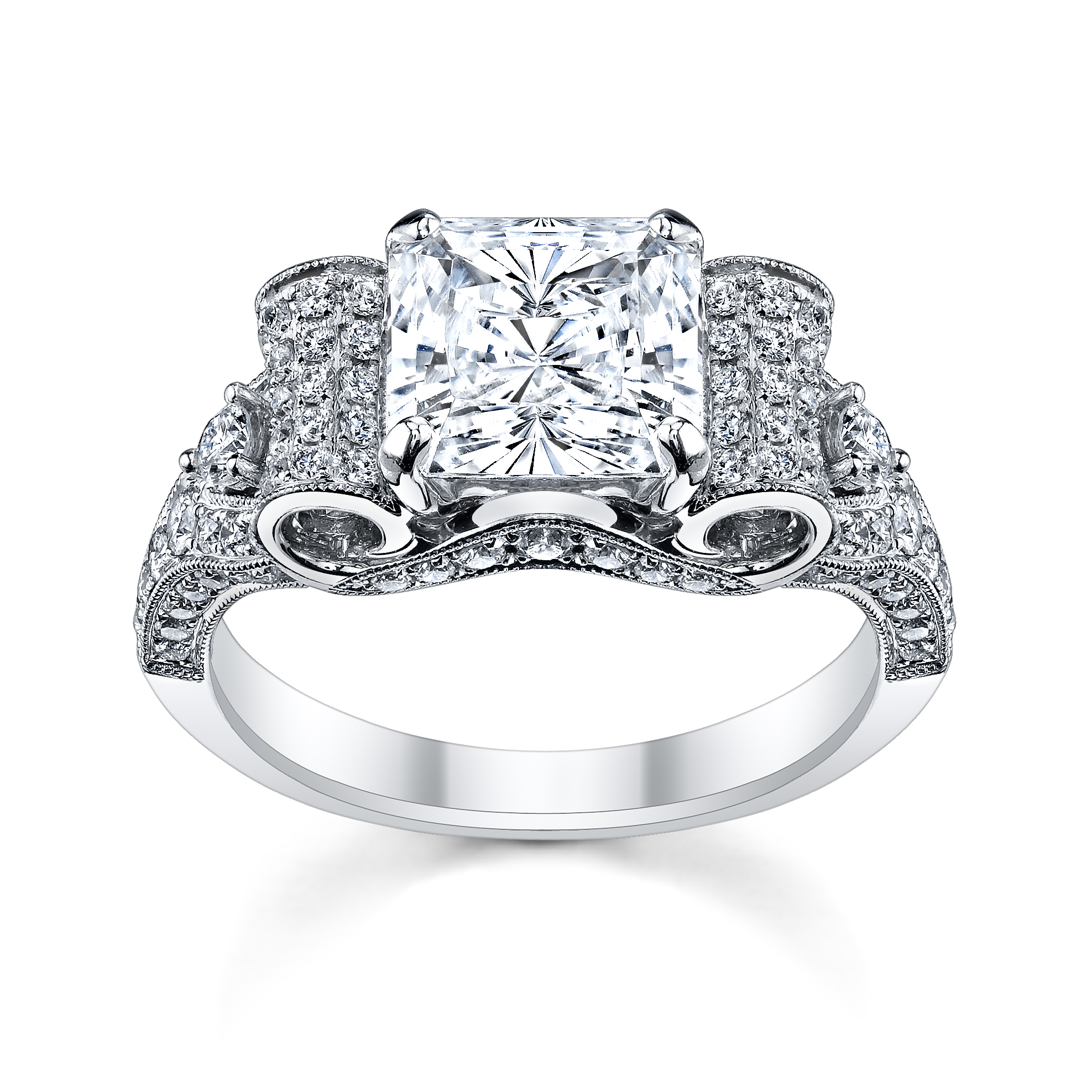 4 perfect heart bow diamond engagement rings for the holidays