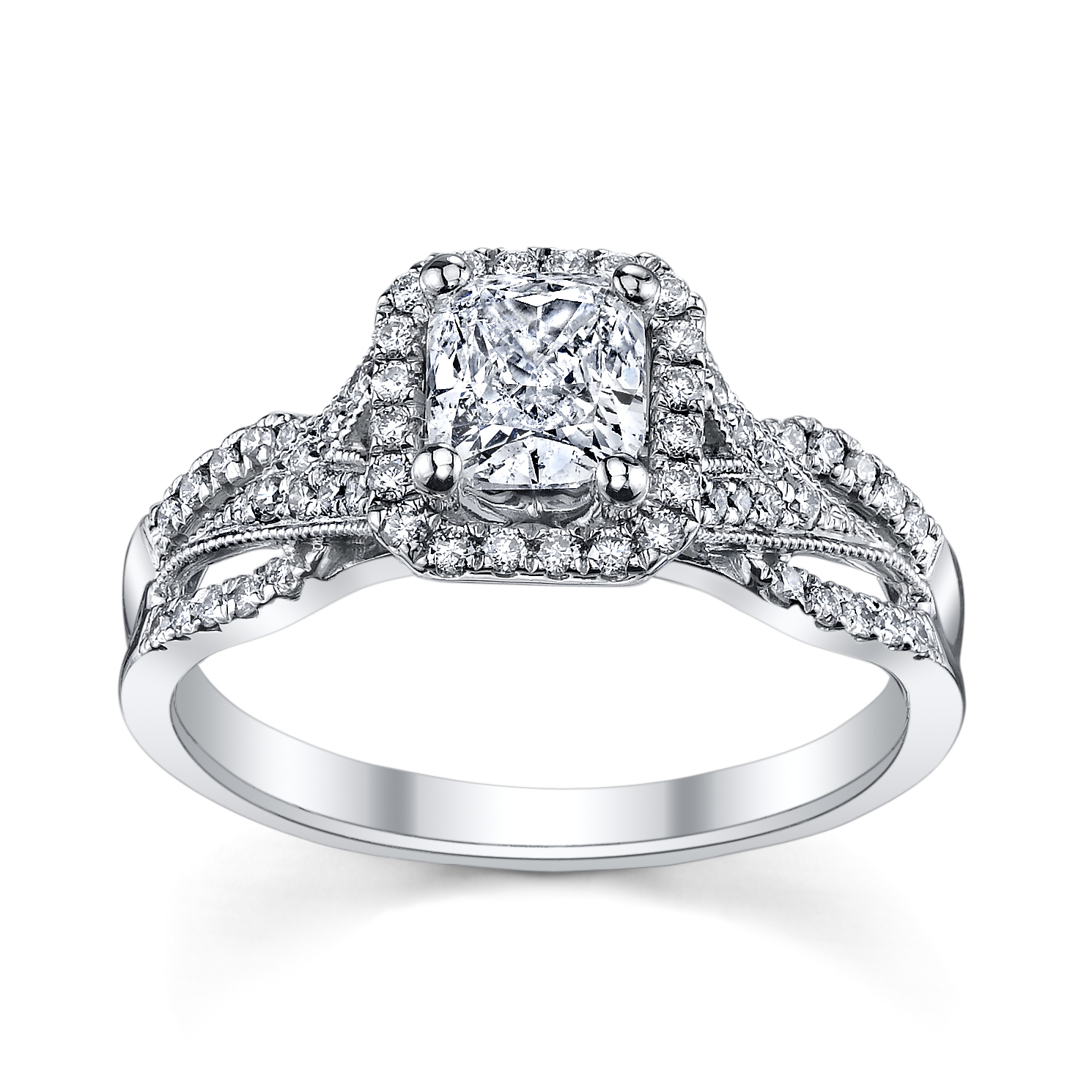 Split Shank Princess Cut Engagement Ring from Robbins Brothers ...