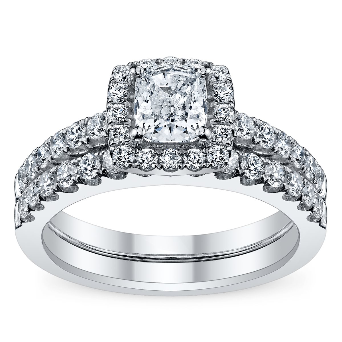Candlelight Engagement & Wedding Ring Set from www.RobbinsBrothers.com
