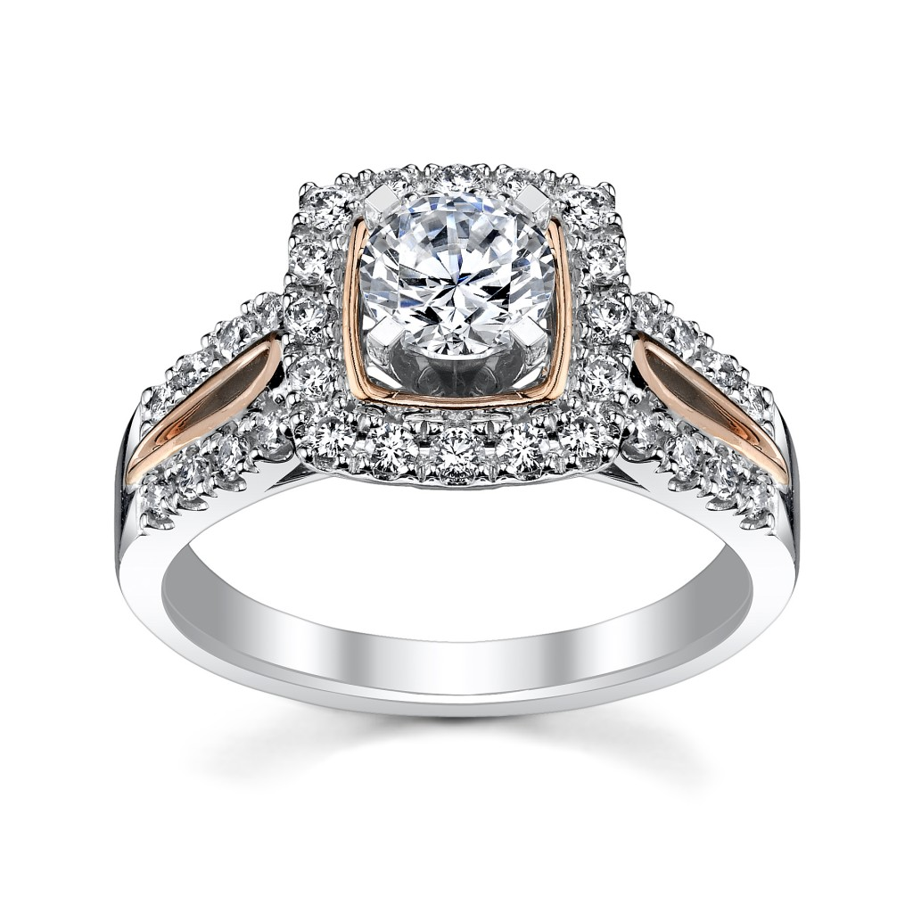 Robbins Brothers Rose Gold Engagement Ring Setting--sku 0386260