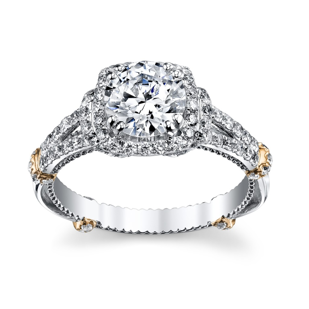 Verragio Rose Gold Engagement Ring from Robbins Brothers--sku0394111