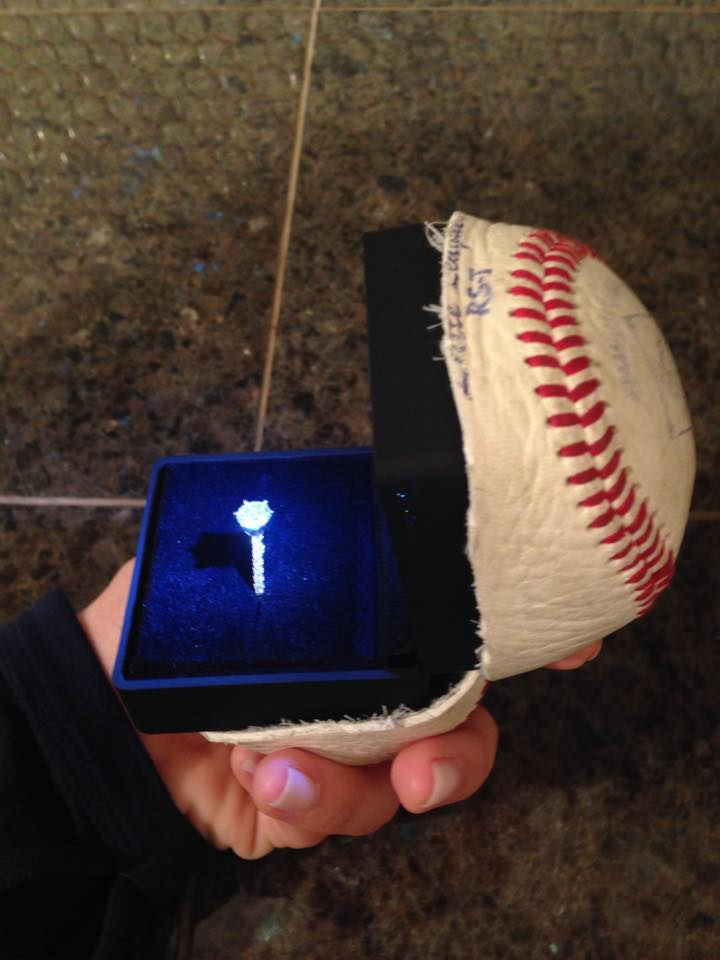 baseball wedding ring memorable at seattle mariners baseball 1509