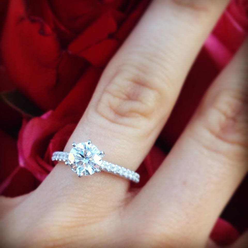 Wade Presented Jesse With A Classic Diamond Solitaire Engagement Ring With  Side Stones From Robbins Brothers