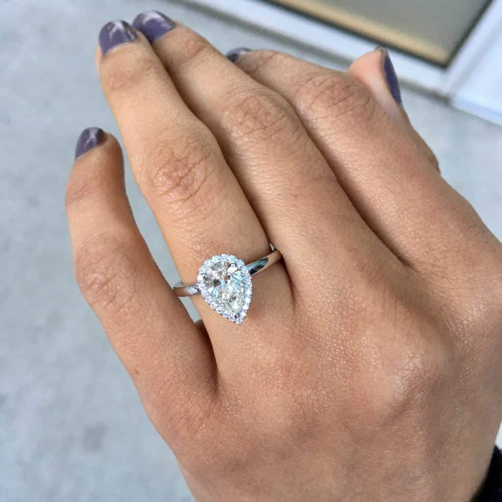 Pear Diamond Engagement Ring By Poem Collection  Sku: 0411898